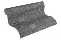 31994-2 cikkszámú tapéta.3d hatású,kőhatású-kőmintás,különleges felületű,fekete,szürke,súrolható,vlies tapéta
