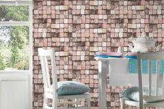 34452-2 cikkszámú tapéta.3d hatású,absztrakt,fa hatású-fa mintás,kockás,különleges felületű,barna,bézs-drapp,narancs-terrakotta,pink-rózsaszín,sárga,szürke,vajszín,súrolható,vlies tapéta