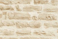 35580-2 cikkszámú tapéta.3d hatású,kőhatású-kőmintás,különleges felületű,bézs-drapp,vajszín,súrolható,vlies tapéta
