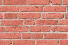 35581-1 cikkszámú tapéta.3d hatású,kőhatású-kőmintás,különleges felületű,narancs-terrakotta,szürke,súrolható,vlies tapéta