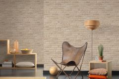 35581-2 cikkszámú tapéta.3d hatású,kőhatású-kőmintás,különleges felületű,bézs-drapp,zebra,súrolható,vlies tapéta