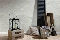 35581-4 cikkszámú tapéta.3d hatású,kőhatású-kőmintás,különleges felületű,fehér,szürke,súrolható,vlies tapéta