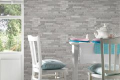 35582-1 cikkszámú tapéta.3d hatású,kőhatású-kőmintás,különleges felületű,ezüst,szürke,súrolható,vlies tapéta