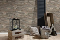 35582-2 cikkszámú tapéta.3d hatású,kőhatású-kőmintás,különleges felületű,barna,bézs-drapp,narancs-terrakotta,szürke,zebra,súrolható,vlies tapéta