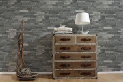 35582-4 cikkszámú tapéta.3d hatású,kőhatású-kőmintás,különleges felületű,ezüst,szürke,súrolható,vlies tapéta