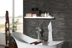 35582-5 cikkszámú tapéta.3d hatású,kőhatású-kőmintás,különleges felületű,barna,szürke,súrolható,vlies tapéta