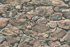 35583-1 cikkszámú tapéta.3d hatású,kőhatású-kőmintás,különleges felületű,barna,bézs-drapp,narancs-terrakotta,szürke,zebra,súrolható,vlies tapéta