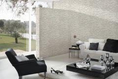 35583-3 cikkszámú tapéta.3d hatású,kőhatású-kőmintás,különleges felületű,fehér,szürke,súrolható,vlies tapéta