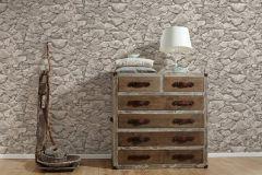35583-4 cikkszámú tapéta.3d hatású,kőhatású-kőmintás,különleges felületű,bézs-drapp,szürke,súrolható,vlies tapéta