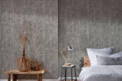 35584-1 cikkszámú tapéta.3d hatású,fa hatású-fa mintás,különleges felületű,ezüst,szürke,súrolható,vlies tapéta