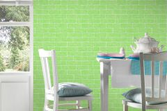 35981-3 cikkszámú tapéta.3d hatású,gyerek,kőhatású-kőmintás,különleges felületű,fehér,zöld,lemosható,vlies tapéta