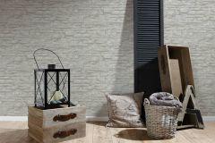 7071-16 cikkszámú tapéta.3d hatású,kőhatású-kőmintás,különleges felületű,bézs-drapp,szürke,zebra,súrolható,vlies tapéta