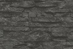 7071-23 cikkszámú tapéta.3d hatású,kőhatású-kőmintás,különleges felületű,fekete,szürke,súrolható,vlies tapéta