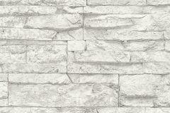 7071-61 cikkszámú tapéta.3d hatású,kőhatású-kőmintás,különleges felületű,fehér,szürke,súrolható,vlies tapéta