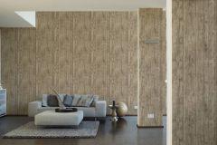 7088-16 cikkszámú tapéta.3d hatású,dekor tapéta ,fa hatású-fa mintás,különleges felületű,természeti mintás,barna,szürke,súrolható,illesztés mentes,vlies tapéta