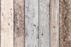 8550-39 cikkszámú tapéta.3d hatású,csíkos,dekor tapéta ,fa hatású-fa mintás,barna,kék,szürke,vajszín,súrolható,illesztés mentes,vlies tapéta