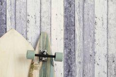 8550-60 cikkszámú tapéta.3d hatású,dekor,fa hatású-fa mintás,különleges felületű,különleges motívumos,kék,szürke,vajszín,súrolható,illesztés mentes,vlies tapéta