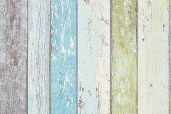8550-77 cikkszámú tapéta.3d hatású,csíkos,dekor tapéta ,fa hatású-fa mintás,különleges felületű,kék,szürke,türkiz,vajszín,zöld,súrolható,illesztés mentes,vlies tapéta