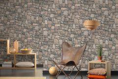 8595-32 cikkszámú tapéta.3d hatású,kőhatású-kőmintás,különleges felületű,természeti mintás,barna,bézs-drapp,zebra,súrolható,vlies tapéta