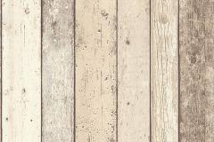 8951-10 cikkszámú tapéta.3d hatású,csíkos,fa hatású-fa mintás,különleges felületű,barna,bézs-drapp,szürke,vajszín,súrolható,illesztés mentes,vlies tapéta