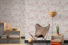 9078-13 cikkszámú tapéta.3d hatású,kőhatású-kőmintás,különleges felületű,retro,barna,fehér,piros-bordó,zebra,lemosható,vlies tapéta