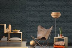 9078-82 cikkszámú tapéta.3d hatású,kőhatású-kőmintás,különleges felületű,fekete,szürke,lemosható,vlies tapéta