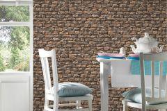9079-12 cikkszámú tapéta.3d hatású,kőhatású-kőmintás,különleges felületű,barna,narancs-terrakotta,szürke,súrolható,vlies tapéta