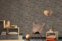 9142-17 cikkszámú tapéta.3d hatású,kőhatású-kőmintás,különleges felületű,barna,bézs-drapp,kék,szürke,súrolható,vlies tapéta