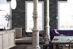 94283-3 cikkszámú tapéta.3d hatású,kőhatású-kőmintás,különleges felületű,fekete,szürke,lemosható,vlies tapéta