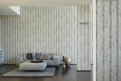 95370-1 cikkszámú tapéta.3d hatású,dekor tapéta ,fa hatású-fa mintás,különleges felületű,barna,fehér,szürke,súrolható,illesztés mentes,vlies tapéta