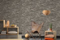 95833-1 cikkszámú tapéta.3d hatású,kőhatású-kőmintás,különleges felületű,barna,bézs-drapp,szürke,súrolható,vlies tapéta