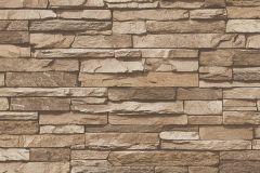 95833-2 cikkszámú tapéta.3d hatású,kőhatású-kőmintás,különleges felületű,barna,bézs-drapp,zebra,súrolható,vlies tapéta