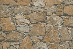 95863-1 cikkszámú tapéta.3d hatású,kőhatású-kőmintás,különleges felületű,barna,narancs-terrakotta,szürke,súrolható,vlies tapéta