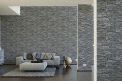95871-1 cikkszámú tapéta.3d hatású,kőhatású-kőmintás,különleges felületű,ezüst,narancs-terrakotta,szürke,súrolható,vlies tapéta