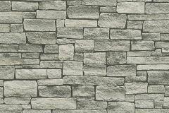 95871-2 cikkszámú tapéta.3d hatású,kőhatású-kőmintás,különleges felületű,szürke,zebra,zöld,súrolható,vlies tapéta