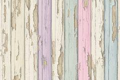 95883-2 cikkszámú tapéta.Absztrakt,dekor tapéta ,fa hatású-fa mintás,különleges felületű,bézs-drapp,kék,lila,türkiz,vajszín,zöld,súrolható,illesztés mentes,vlies tapéta