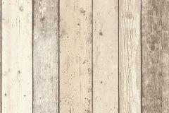 8951-10 cikkszámú tapéta.Fa hatású-fa mintás,barna,bézs-drapp,narancs-terrakotta,sárga,szürke,súrolható,illesztés mentes,vlies tapéta