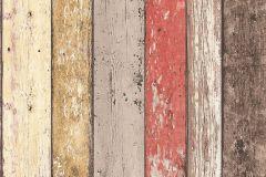8951-27 cikkszámú tapéta.Fa hatású-fa mintás,barna,bézs-drapp,fehér,piros-bordó,szürke,vajszínű,súrolható,illesztés mentes,vlies tapéta