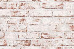 9078-13 cikkszámú tapéta.Kőhatású-kőmintás,fehér,piros-bordó,súrolható,vlies tapéta