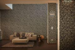 9079-29 cikkszámú tapéta.Kőhatású-kőmintás,fekete,szürke,súrolható,vlies tapéta