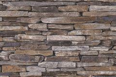 9142-17 cikkszámú tapéta.Kőhatású-kőmintás,barna,szürke,súrolható,vlies tapéta