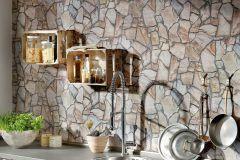 9273-16 cikkszámú tapéta.Kőhatású-kőmintás,barna,bézs-drapp,szürke,vajszínű,súrolható,vlies tapéta