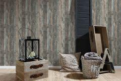 95405-2 cikkszámú tapéta.Fa hatású-fa mintás,barna,bézs-drapp,szürke,súrolható,vlies tapéta