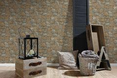 95863-1 cikkszámú tapéta.Kőhatású-kőmintás,barna,bézs-drapp,fekete,súrolható,vlies tapéta