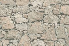 95863-2 cikkszámú tapéta.Kőhatású-kőmintás,barna,fekete,szürke,súrolható,vlies tapéta