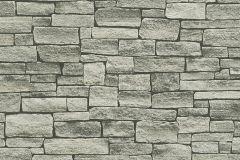 95871-2 cikkszámú tapéta.Kőhatású-kőmintás,fekete,szürke,súrolható,vlies tapéta