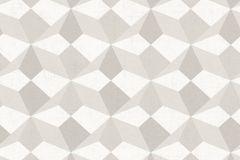 34133-1 cikkszámú tapéta.3d hatású,geometriai mintás,kockás,fehér,szürke,gyengén mosható,vlies tapéta