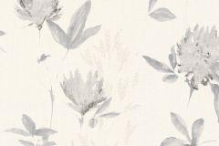 34498-1 cikkszámú tapéta.Rajzolt,virágmintás,fehér,szürke,lemosható,vlies tapéta