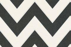 34775-1 cikkszámú tapéta.Geometriai mintás,különleges motívumos,fehér,fekete,lemosható,vlies tapéta