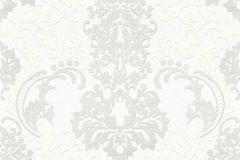 36166-1 cikkszámú tapéta.Barokk-klasszikus,egyszínű,fehér,lemosható,vlies tapéta